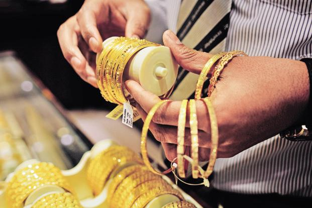 In New Delhi, gold prices of 99.9% and 99.5% purity slumped by Rs820 each to Rs30,530 and Rs30,380 per ten gram, respectively. Photo: