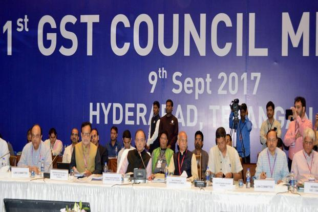 Minister of corporate affairs Arun Jaitley at the 21st GST Council meet in Hyderabad on Saturday. The GST Council decided to open registration of persons liable to deduct TDS and TCS from 18 September. Photo: PTI