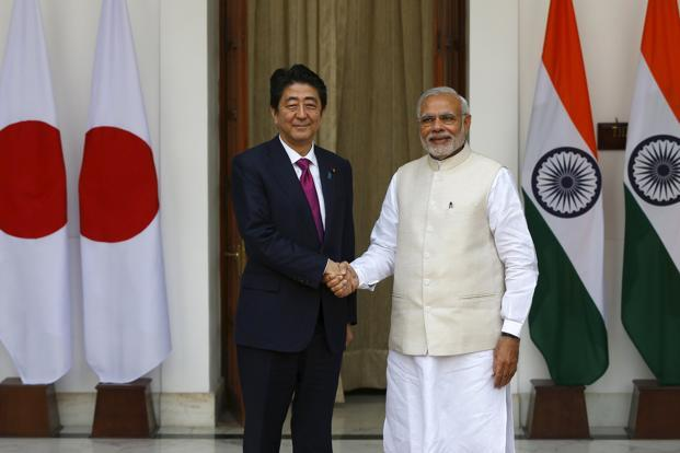 Japanese PM, Modi to lay foundation for Ahmedabad-Mumbai bullet train