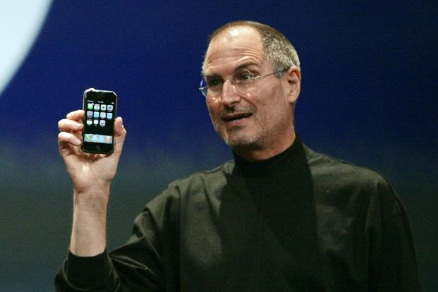 Then Apple CEO Steve Jobs Unveiling The First IPhone In 2007 Photo Reuters