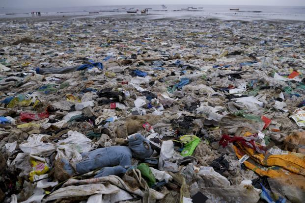 Versova beach on the Arabian Sea coast in Mumbai. An environmental activist calls garbage problem a 'ticking time bomb' that will ultimately bury the nation's cities unless its 1.3 bn people stop littering at will. Photo: AP
