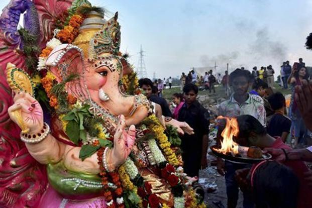 The image of Ganesha in the commercial, who is widely considered to be vegetarian, was met with anger in Australia's Indian community. Photo: PTI