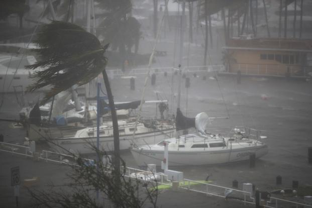 Irma made a second Florida landfall on Sunday as a Category 3 storm bringing winds of 185kmph and life-threatening sea surge. Photo: AFP