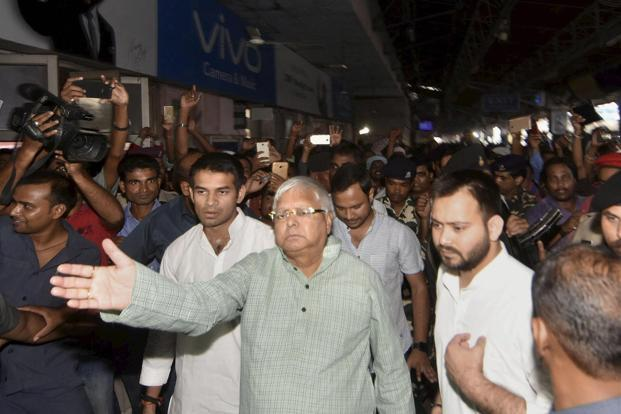 The FIR alleged that Lalu Yadav, as railway minister, abused his official position. Photo: PTI