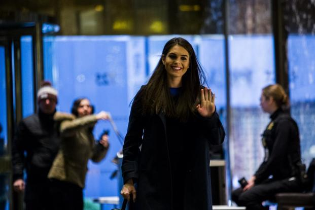 Hope Hicks, the former model and PR operative, is known around the West Wing for her close relationship with the Trump family and as a keen defender of Trump's image. Photo: AFP