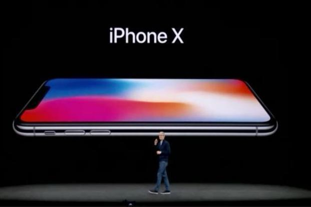 The Apple event for the launch of the iPhone X and iPhone 8 and 8 Plus at the Steve Jobs Theater in Apple Park, San Francisco, on Tuesday. Photo: AP