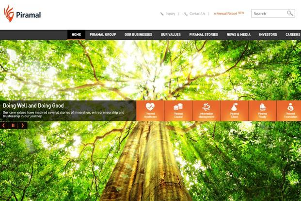 A screen grab of Piramal Enterprises website