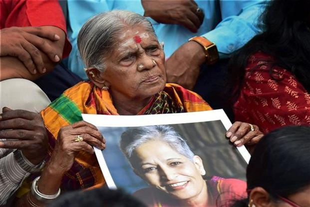 The Gauri Lankesh murder has reignited the debate on freedom of press and the freedom of speech in India, although the motives behind her killing are yet to be established. Photo: PTI