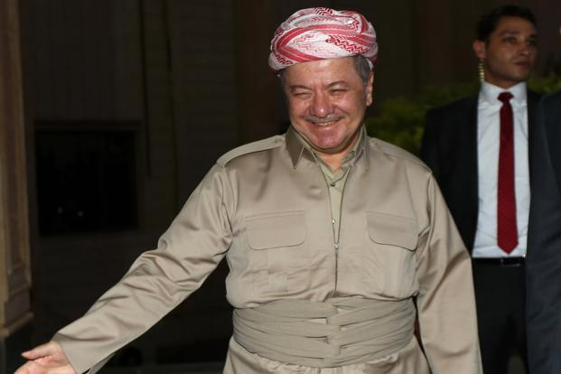 "Kurdish leader Massoud Barzani vowed to press ahead with the vote, calling it a ""natural right"". Photo: AFP"