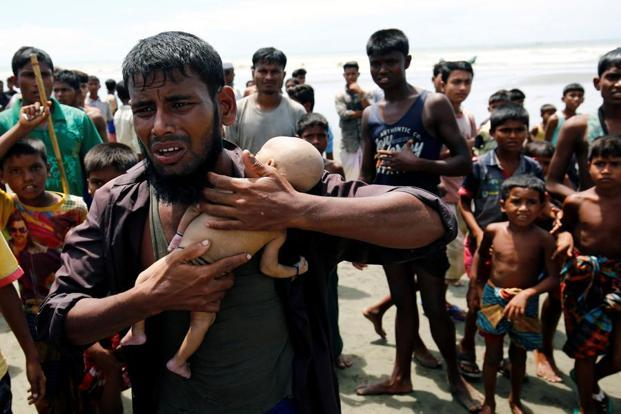According to the UN estimates, over 379,000 Rohingya Muslims have fled Myanmar's Rakhine state into Bangladesh since 25 August when fresh wave of violence erupted. Photo: Pradeep Gaur/ Mint
