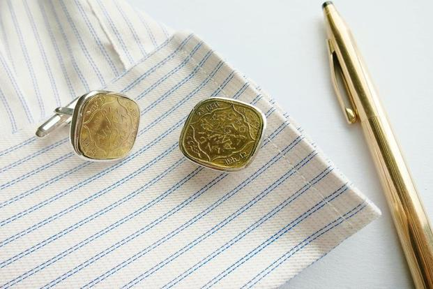 Vintage coin cufflinks by Lai Jewellery