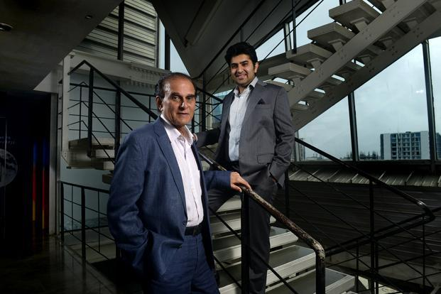 Harsh Mariwala, chairman and managing director, Marico Ltd. with son Rishabh Mariwala. Photo: Abhijit Bhatlekar/Mint
