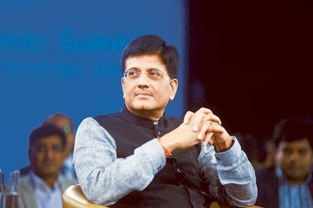 Rail minister Piyush Goyal. Photo: Reuters