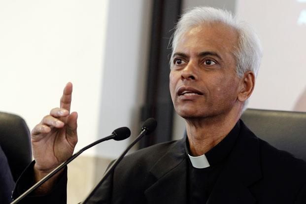 Officials announced on Tuesday that Tom Uzhunnalil had been freed and brought to Vatican City. Photo: Andrew Medichini/AP