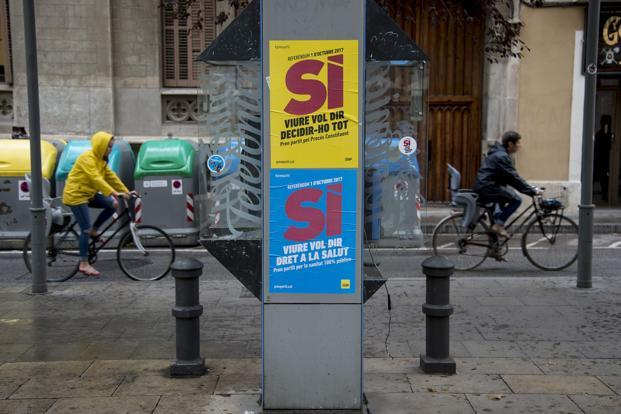 The police searches are part of a concerted effort by the Spanish government to prevent the Independence referendum ballot from going ahead. Photo: AFP