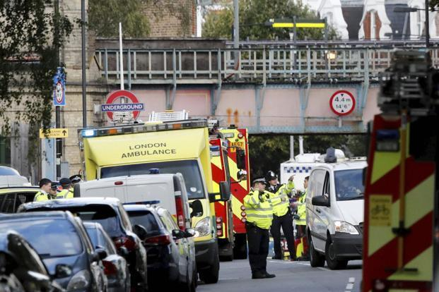 Police earlier on Saturday arrested an 18-year-old man in the departure area of the port at Dover and searched a house near London in connection with Friday's detonation of an improvised bomb on a tube train.  Photo: AP