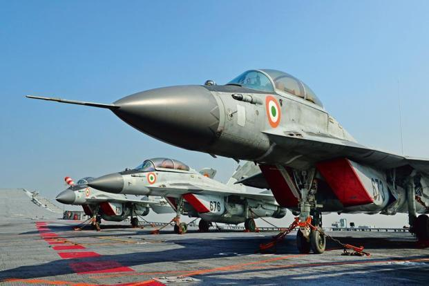 In January, the Indian Navy had kick-started the process of procuring 57 multi-role combat aircraft for its carriers by issuing a request for information to leading military jet makers. Photo: Mint