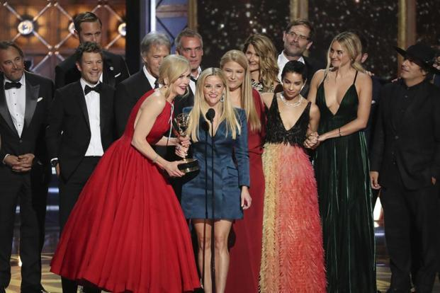 'Big Little Lies' nearly swept the awards in the limited series category, winning three of the four acting prizes, including the best actress award in a limited series for Nicole Kidman.