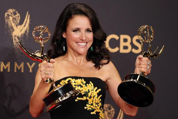 HBO's 'Veep' won the best comedy for the third year in a row. Julia Louis-Dreyfus won her eighth Emmy award for best actress in comedy.