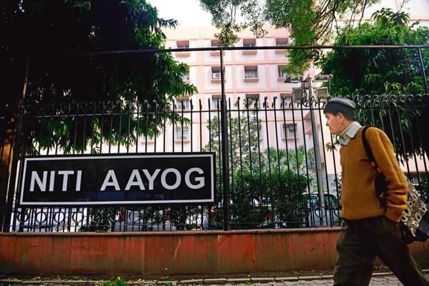 File photo. Niti Aayog office in New Delhi. Photo: Pradeep Gaur/Mint