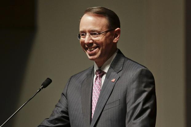Mueller's office has interviewed Rod Rosenstein, who has authority over Russiagate