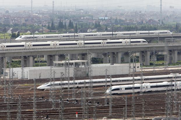 Trains to Beijing running at full speed