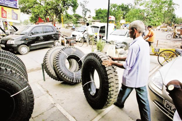 Anti-dumping duty will certainly improve tyre sales in the coming quarters, given that the threat from cheap imports is off. Photo: Bloomberg
