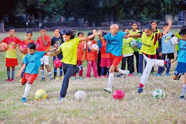 Children during a practice session at My Angels Academy. Photos: Pradeep Gaur/Mint.