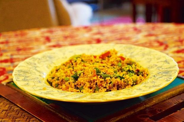 Foxtail millet with vegetables. Photo: Samar Halarnkar