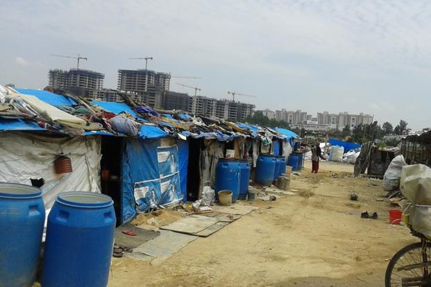 A 2015 file photo of the Hebbal settlement in Bengaluru. Photo: Rahul Chandran