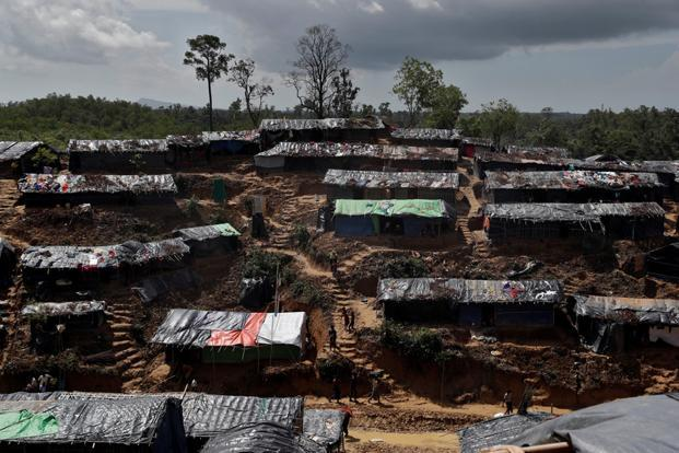 A Rohingya refugee camp is seen in Cox's Bazar, Bangladesh on 21 September. Photo: Reuters