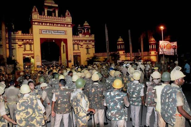 The BHU students have been protesting since Thursday against the rising eve- teasing incidents on the campus.