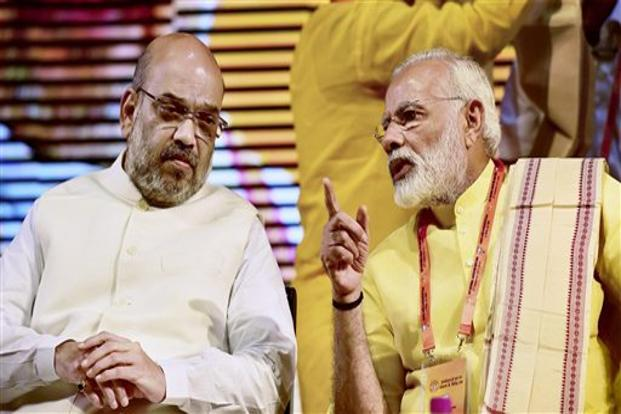 BJP president Amit Shah (left) and PM Narendra Modi at the BJP national executive meeting on Monday. The Prime Minister's Economic Advisory Council has been reconstituted at a time when the government is considering a more aggressive fiscal push in Union Budget 2018. Photo: PTI