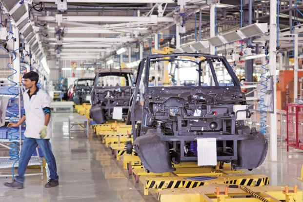 A file photo of an electric car manufacturing plant. Energy Efficiency Services has extended the last date for submitting online bids for the government tender to 28 September. Photo: Aniruddha Chowdhury/Mint