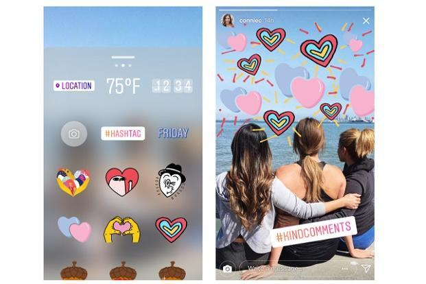 User can apply Kindness stickers on their videos and photos to spread a message of kindness to others.