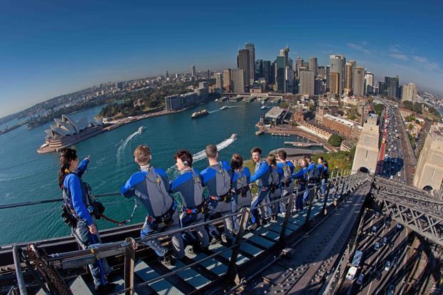 The stair-climb up the Sydney Harbour Bridge. Photo courtesy: BridgeClimb (BridgeClimb)