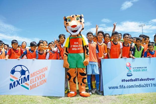 Kheleo mascot for the Fifa Under-17 World Cup