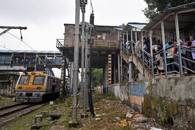 The stampede on the foot overbridge at the Elphinstone Road-Parel Station in Mumbai killed 22 people on Friday. Photo: PTI