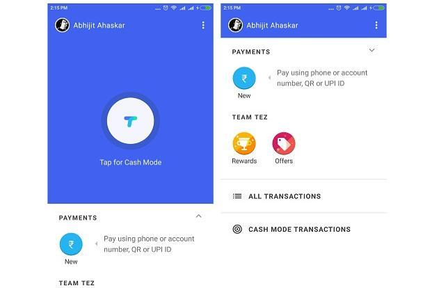 Google Tez allows users to send and receive money directly into the account using UPI payments.