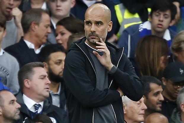 Pep Guardiola said 'In Catalonia they have injured a lot of people, people who only went to schools to vote.' Photo: AFP