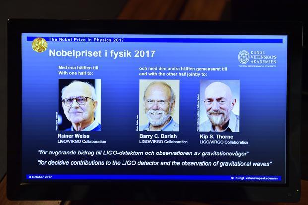 Nobel prizes in physics list