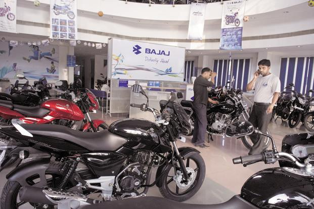 Bajaj Auto's domestic motorcycle sales in September comprised 58% of total sales during the month, and rose by 7.3% over a year ago. Photo: Mint