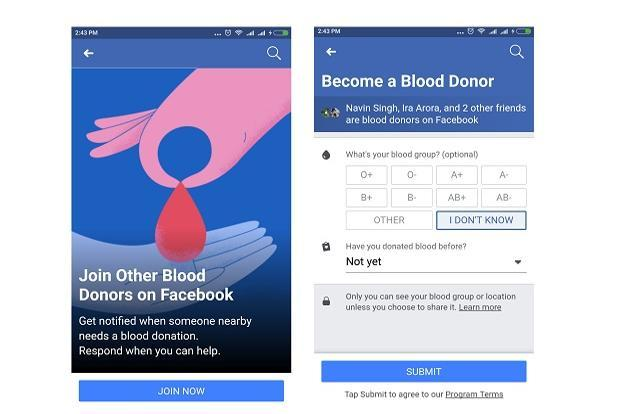 Users who are willing to help can sign up to be blood donors on Facebook and if there is a blood request close to their location they will get a notification on their phone.