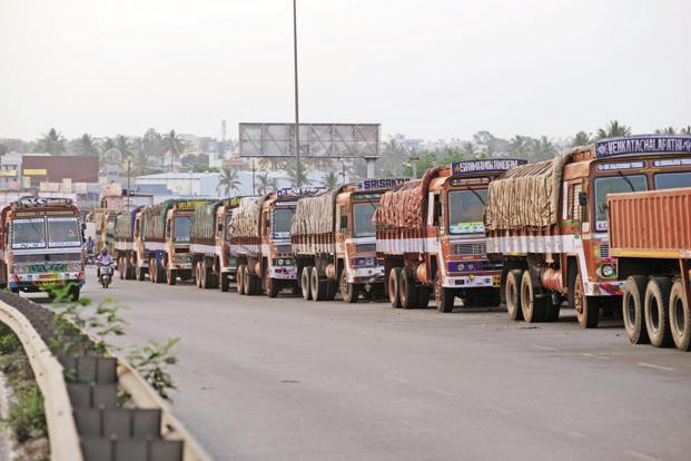 The unorganized sector has been hit as transporters and their clients are unable to figure out the options in the new tax law and how they should go about compliance. Photo: Hemant Mishra/Mint (Hemant Mishra/Mint)