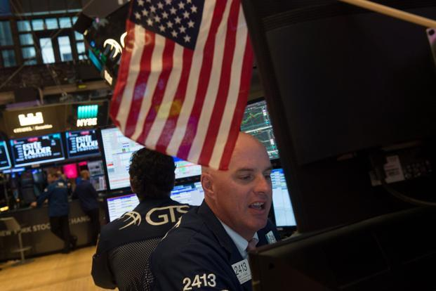 The Dow Jones Industrial Average ended at 0.4% at 22,641.67. Photo: AFP