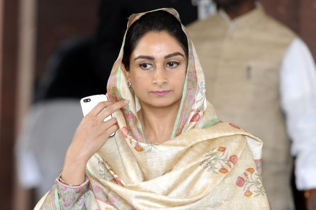 Food processing minister Harsimrat Kaur Badal said programmes like the Pradhan Mantri Kisan Sampada Yojana would create Rs6,000 crore worth of infrastructure in the next three years. File photo: HT (HT)