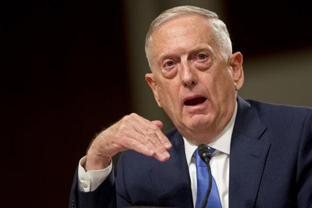 US defence secretary Jim Mattis speaks on Afghanistan before the Senate Armed Services Committee in Washington on Tuesday. Photo: AP