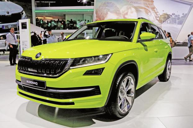 Priced at Rs34,49,501 (ex-showroom, all India), Skoda Kodiaq will compete with Ford Endeavour and Toyota Fortuner, among others. Photo: Reuters (Reuters)