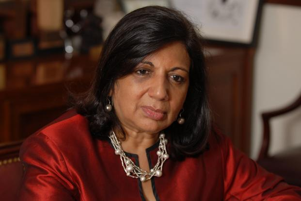 A file photo of businesswoman Kiran Mazumdar-Shaw who was placed at 72nd position in India's list of 100 richest persons by Forbes magazine. Photo: Hemant Mishra/Mint (Hemant Mishra/Mint)
