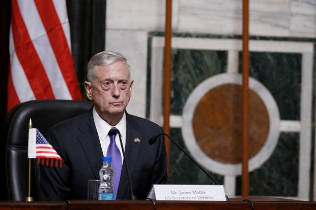 US defence secretary Jim Mattis said there are many areas where India and the US are natural partners for each other. Photo: Reuters (Reuters)